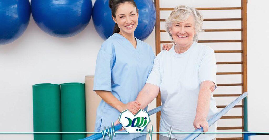 بهبود تکنیک راه رفتن در سالمندان