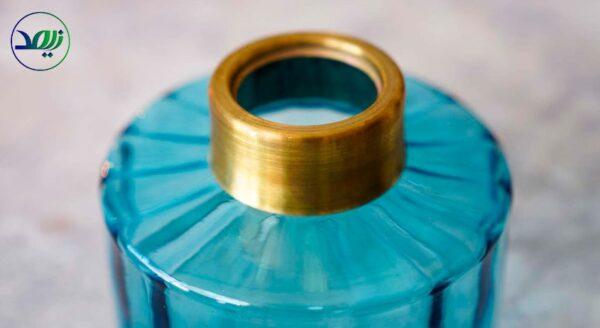 ظرف شیشهای آبیفیروزه